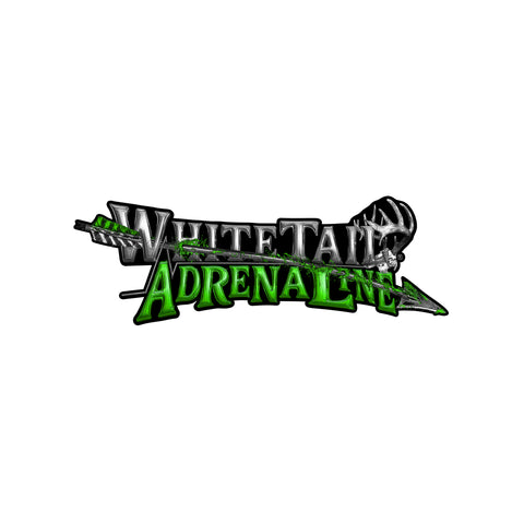 "24"" Whitetail Adrenaline Vinyl Arrow Decal"