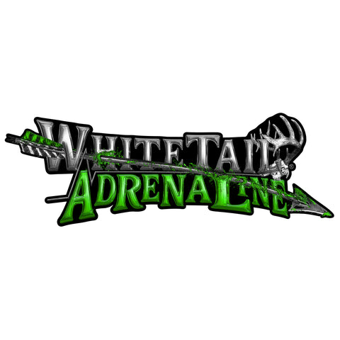 "32"" Whitetail Adrenaline Vinyl Arrow Decal"
