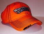 Orange Blaze Cap with Ripped Bill