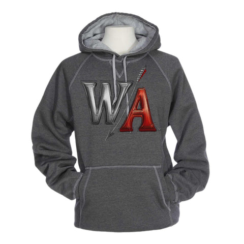 Heavyweight Grey Cross Stitch Hoodie | W/A Design