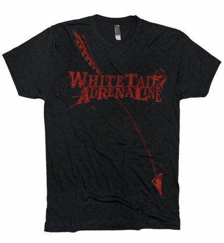 Black Heather Tri-Blend | Blood Red Design