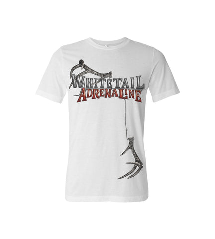 Men's White Tee | Rattling Antlers Design