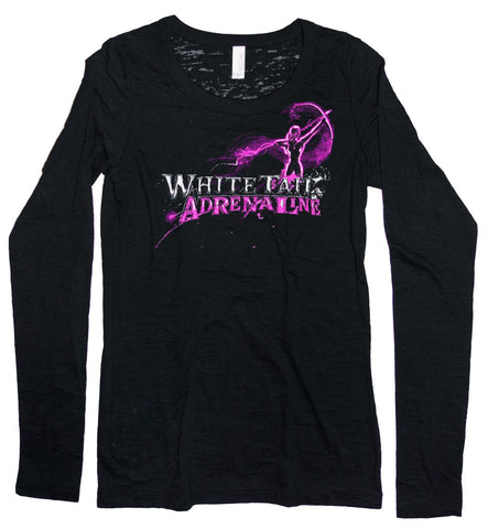 Ladies Black Burnout Longsleeve