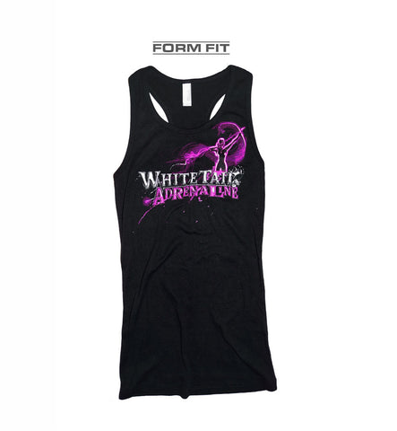 Ladies Black Racerback Form Fit Tank | Archer