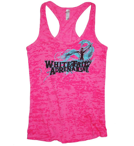 Ladies Pink Burnout Tank | Archer
