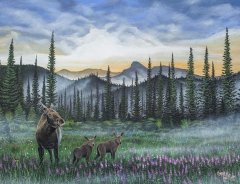 Chancy Walters' Art Moose Painting