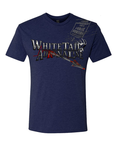 Midnight Blue Heather Tri-Blend | Exit Arrow