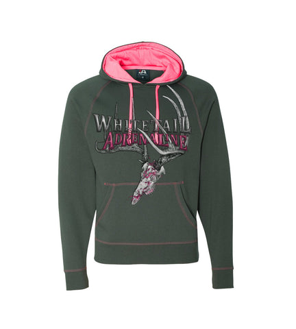 Ladies Pink Charcoal Hoodie | 200 Buck