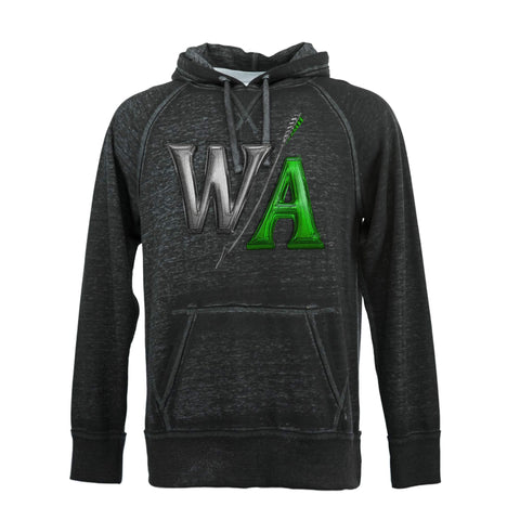 Twisted Black Burnout Hoodie | W/A Design