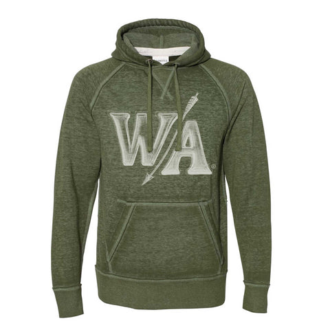 Twisted Olive Burnout Hoodie | W/A Design