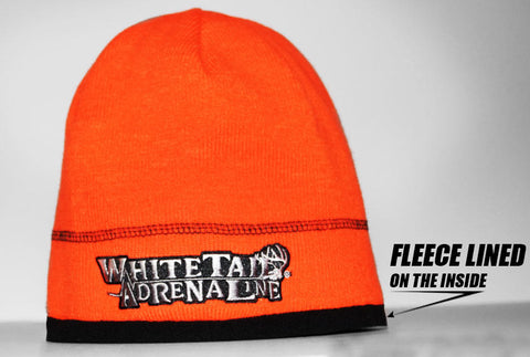 Orange Blaze Fleece Lined Beanie