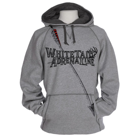 Heavyweight Heather Grey Cross Stitch Hoodie | Black Sketch Arrow