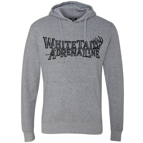 Midweight Heather Grey Hoodie | Logo Sketch