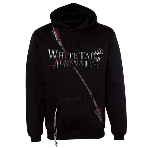 Mens Black Hoodie | Blood Red Arrow Design