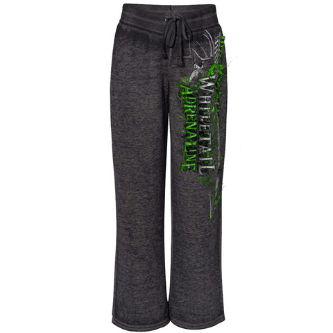 Black Burnout Fleece Pants