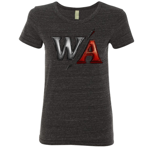 Ladies Black Heather Tee | W/A