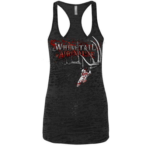 Ladies Black Burnout Tank | 200 Grunge Buck