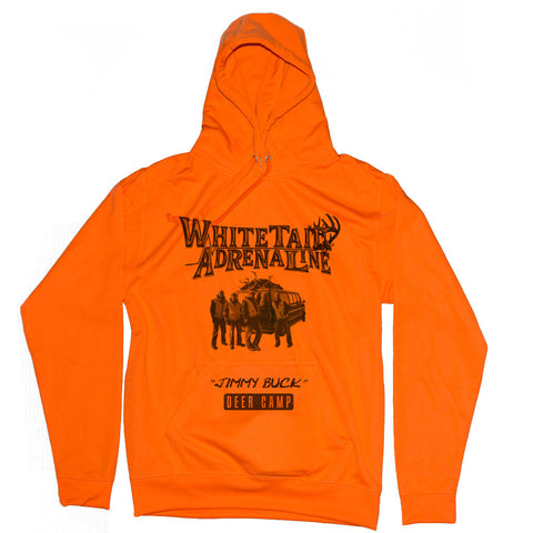 "Mens Blaze Tailgate Hoodie | ""Jimmy Buck Deer Camp"" Design"