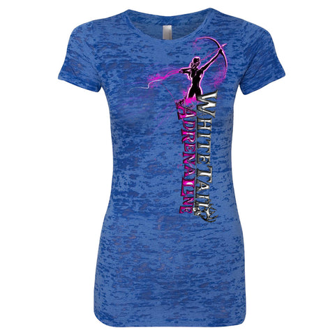 Ladies Royal Blue Burnout Tee | Vertical Archer