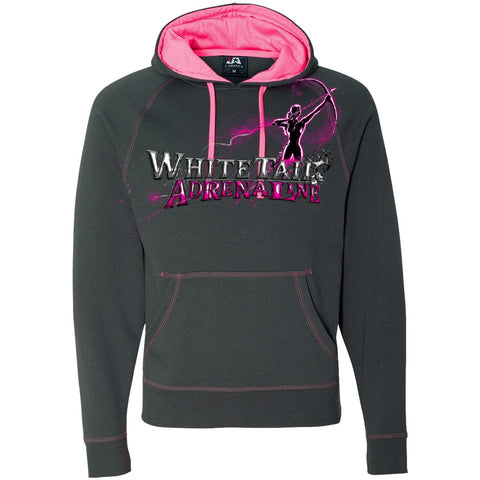 Ladies Pink Charcoal Hoodie | Archer