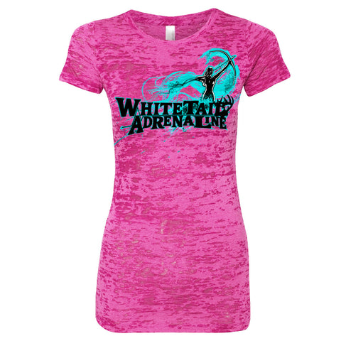 Ladies Pink Burnout Tee | Archer