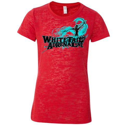 Ladies Red Burnout Tee | Archer