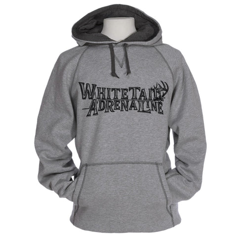 Heavyweight Heather Grey Cross Stitch Hoodie | Logo Sketch