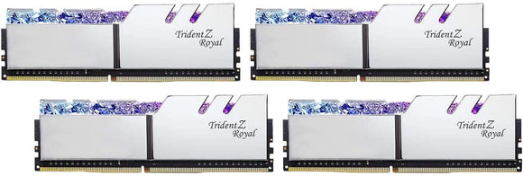 G.SKILL 128GB (4 x 32GB) Trident Z Royal Series DDR4 PC4-28800 3600MHz Intel XMP 2.0 Desktop Memory Model F4-3600C18Q-128GTRS