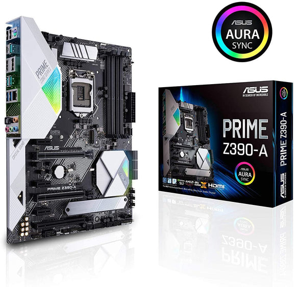 ASUS Prime Z390-A Motherboard LGA1151 (Intel 8th and 9th Gen) ATX DDR4 DP HDMI M.2 USB 3.1 Gen2 Gigabit LAN