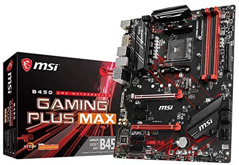 MSI Performance Gaming AMD Ryzen 2ND and 3rd Gen AM4 M.2 USB 3 DDR4 DVI Motherboard (B450 Gaming Plus Max)