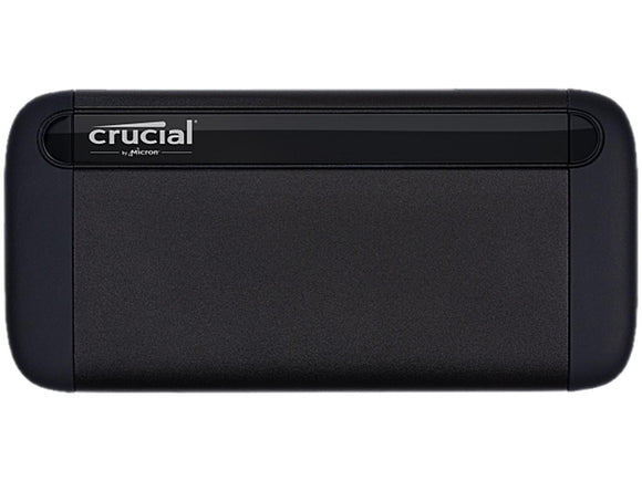 Crucial 1TB X8 Portable SSD - Up to 1050 MB/s - USB 3.2 - USB-C, USB-A - CT1000X8SSD9