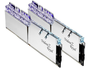 G.SKILL Trident Z Royal Series Silver 16GB (2 x 8GB) 288-Pin RGB DDR4 4266 (PC4 34100) DIMM  F4-4266C19D-16GTRS