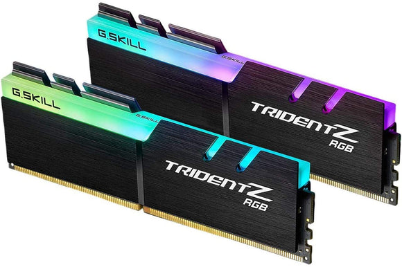 G.Skill 64GB DDR4 TridentZ RGB 3600Mhz PC4-28800 CL18 1.35V Dual Channel Kit (2x32GB)