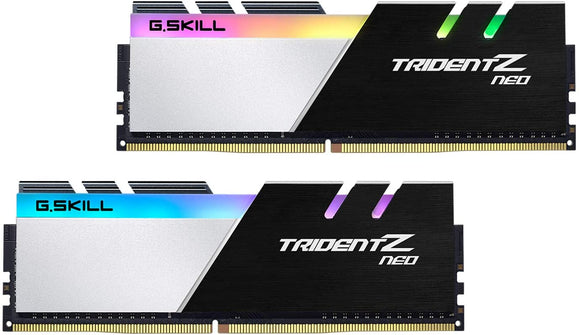 G.Skill Trident Z NEO Series 32GB (2 x 16GB) 288-Pin SDRAM DDR4 4000 (PC4-32000) CL18-22-22-42 1.40V Dual Channel Desktop Memory Model F4-4000C18D-32GTZN