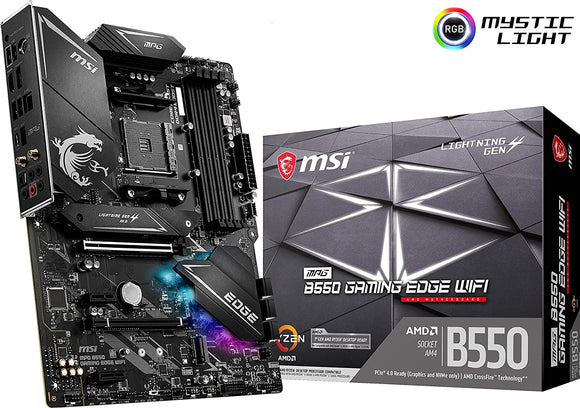 [OB] MSI MPG B550 Gaming Edge WiFi Gaming Motherboard (AMD AM4, DDR4, PCIe 4.0