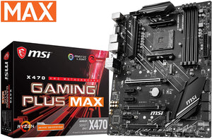 MSI Performance Gaming AMD X470 Ryzen 2 AM4 ATX Motherboard (X470 Gaming Plus Max)