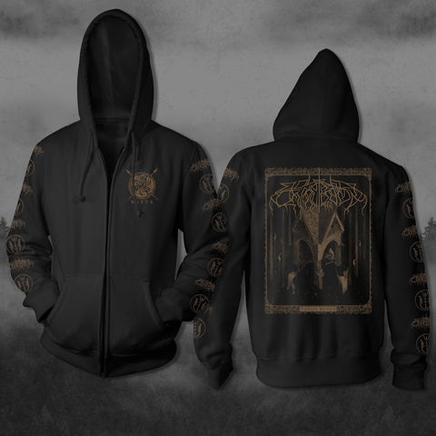 THRICE WOVEN MONOCHROMATIC ZIP UP SWEATSHIRT (Limited)