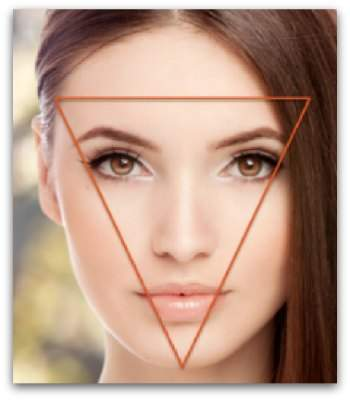 The Triangle Of Youth Is The Perfect Shape For Your Face
