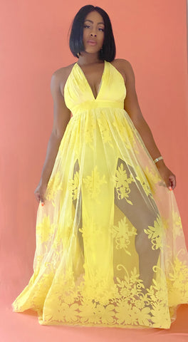 Canary Sheer Maxi - Aundrea Love Collection