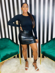 Faux Leather Skirt - Aundrea Love Collection