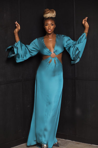 Teal Maxi Dress - Aundrea Love Collection