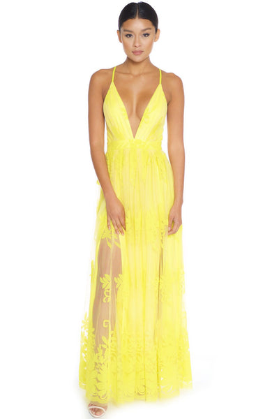 Canary Sheer Maxi - Aundrea Love Boutique