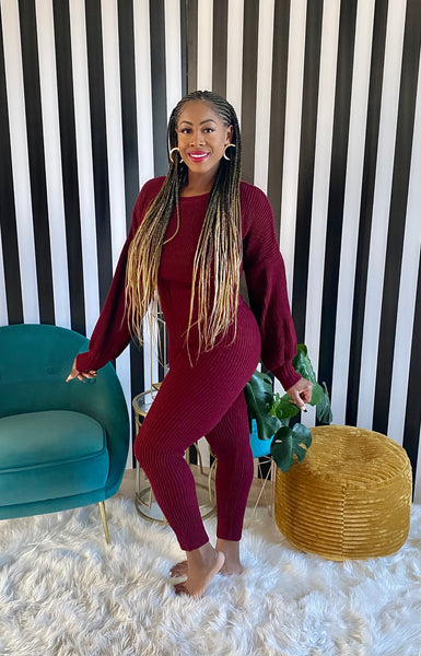 Sweater Lounge Set - Aundrea Love Boutique