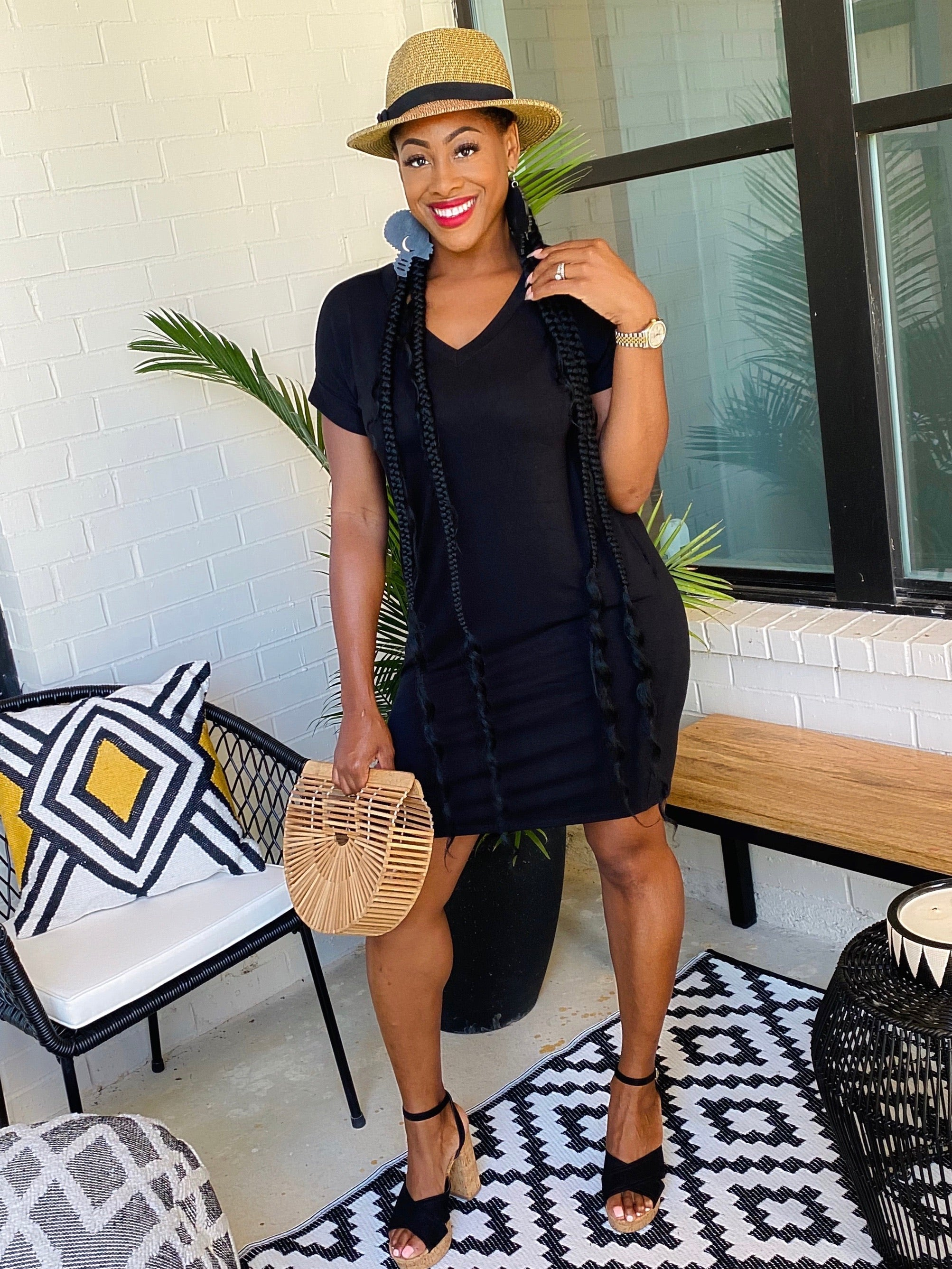 Oversized Short Tunic Dress - Aundrea Love Boutique