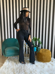 Black Bling Bodysuit - Aundrea Love Collection