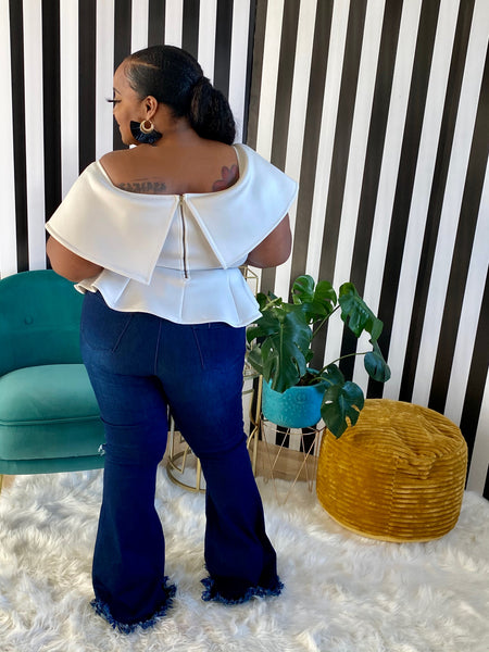 Frayed Flare Denim - Aundrea Love Boutique