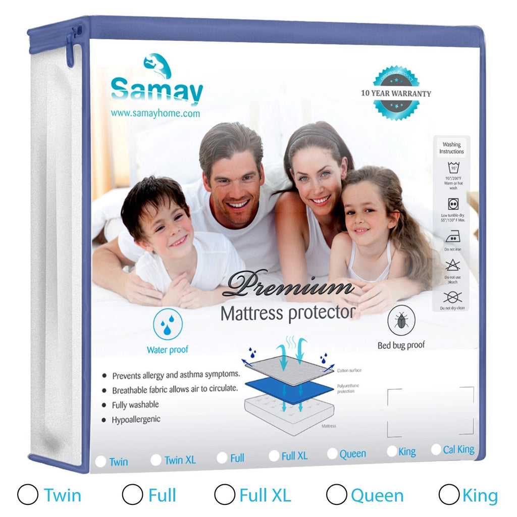 Mattress Cover Bed Bug & Waterproof Premium Hypoallergenic Protector
