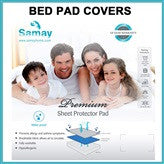 Bed Pad Protector Waterproof Premium Hypoallergenic Mattress White