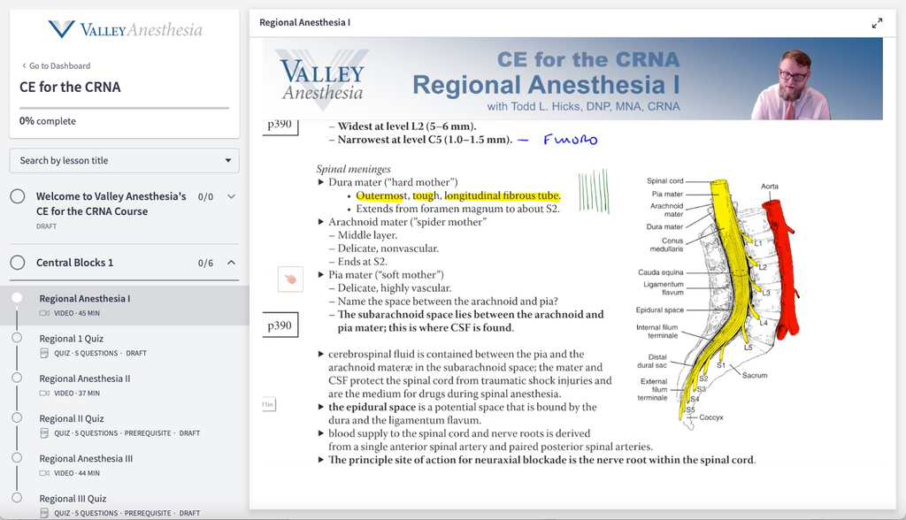 Valley Fundamentals for the CRNA