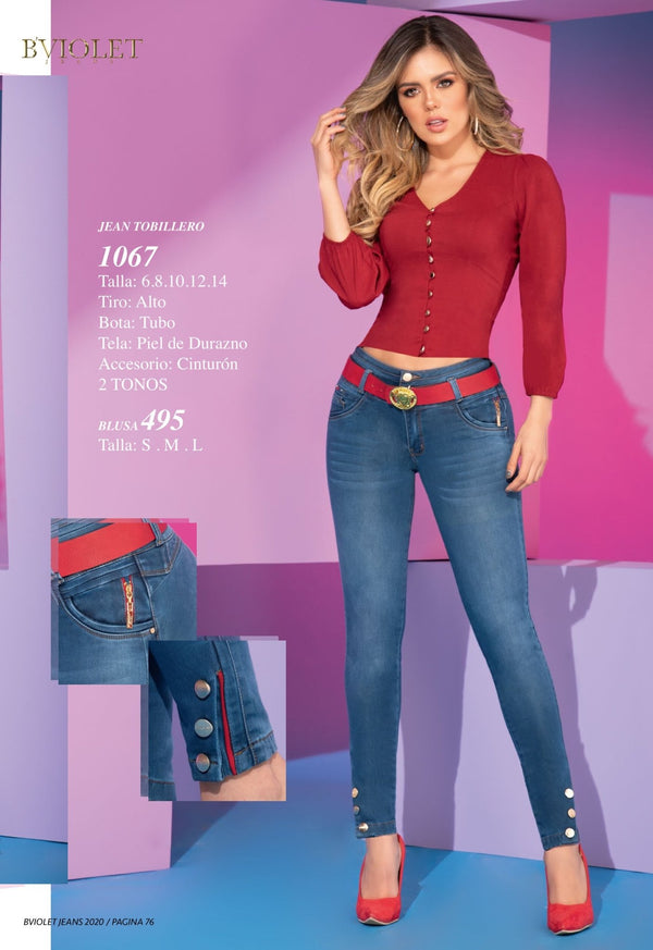1067 PRE-ORDER 100% Authentic Colombian Push Up Jeans by B'violet - JDColFashion